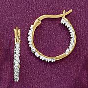small in out hoop earrings