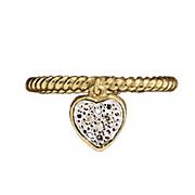 dangle heart diamond ring