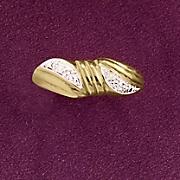 double swirl diamond ring
