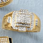 men s diamond raised design band