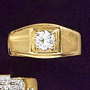 men s 10k solitaire cubic zirconia ring