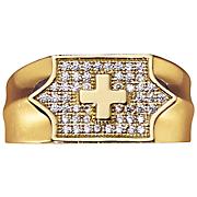 men s cross cubic zirconia ring