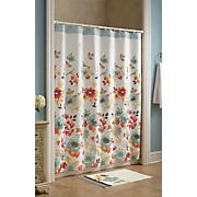cortina de ducha de paleta de las naturalezas y alfombra de baño