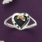 women s black hills gold onyx ring