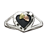 women s black hills gold onyx ring