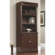 palladia cherry 5 shelf library bookcase with cabinet