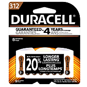 duracell 312  8 pack hearing aid batteries