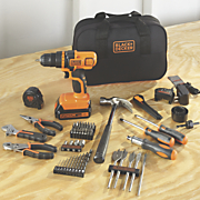 68 pc  20 volt lithium drill project kit by black   decker