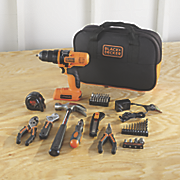 56 pc  cordless drill project kit by black   decker