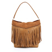 gena fringed hobo bag from steven by steve madden