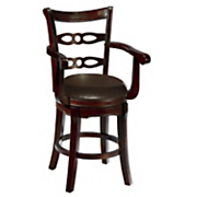 square ladderback swivel stool