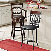 square ladderback swivel stool