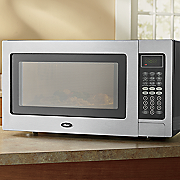 oster 1 1 cu  ft  stainless steel microwave