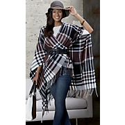 scarf poncho with belt