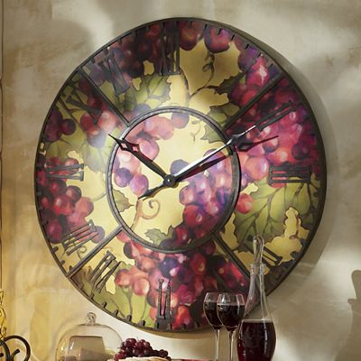 Large Grape Wall Clock