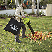 3 in 1 electric blower  vacuum and mulcher and gutter attachment by sun joe