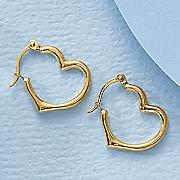 gold heart hoop earrings 29
