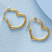 gold heart hoop earrings 109