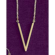 10k gold v necklace