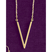 10k gold v necklace