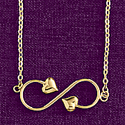 10k gold infinity heart necklace