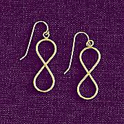 10k gold infinity drop earrings