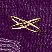 10k gold wide x ring