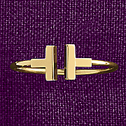 10k gold small bar ring