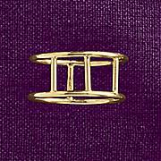 10k gold triple bar ring