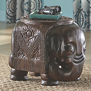 ornate wide elephant stool