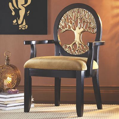 Detailed Tree Accent Chair