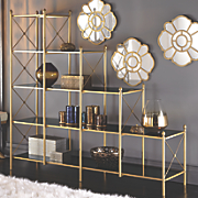 Black and Gold Display Shelf