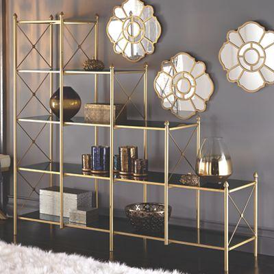 Black and Gold Display Shelf