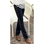 Lace Up Slim Jean
