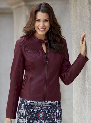 Vegan Faux Leather Jacket