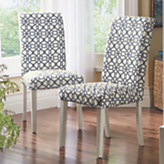 Set of 2 Geometric Chairs