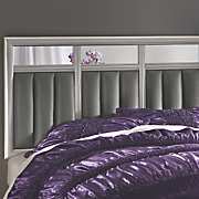 3 pc  cushioned mirror headboard