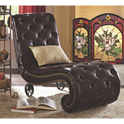 addison tufted chaise