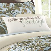 kiss me goodnight pillow