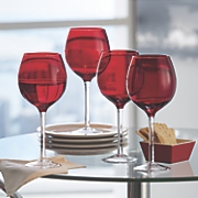 set of 4 tuscana red wine glasses