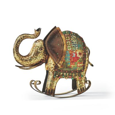 Rocking Elephant Figurine