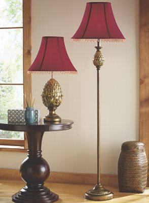 Pineapple Table and Floor Lamps