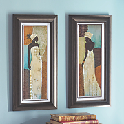 Set of 2 African Lady Framed Prints
