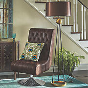 Brown and Gold Floor Lamp