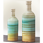 set of 2 sea color vases