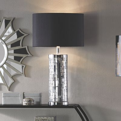 Mirrored Mosaic Table Lamp
