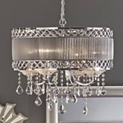 gray faux crystal chandelier