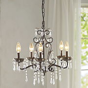 rustic gold chandelier