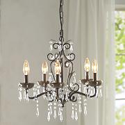 rustic gold chandelier