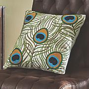 crewel plume pillow